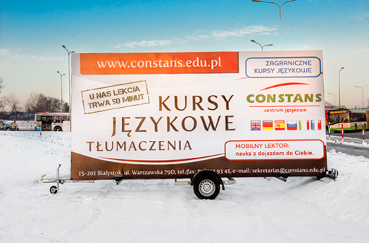 Successful advertising campaigns on mobile billboards.